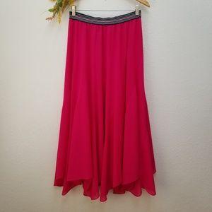 Anthro Vanessa Virginia Colima Maxi Skirt Pink Med